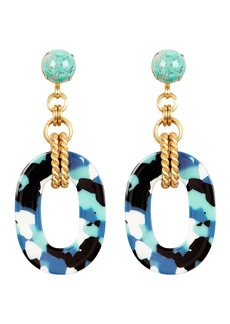 Elizabeth Cole Bennet Glass Drop Earrings