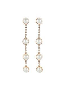 Elizabeth Cole Callen Linear Drop Earrings