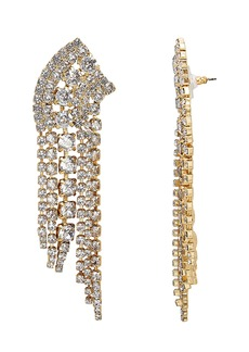Elizabeth Cole Crystal Fringe Earrings