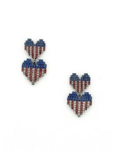 Elizabeth Cole Abigail Heart Earrings