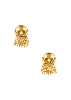 Elizabeth Cole Armor Fringe Earrings