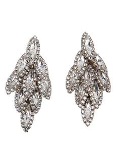 Elizabeth Cole Bacall Crystal Drop Earrings
