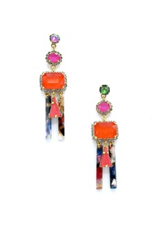 Elizabeth Cole Cadee Mixed-Cut Dangle Earrings