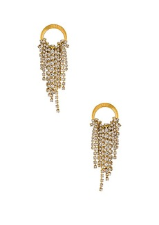 Elizabeth Cole Cascading Crystal Earrings