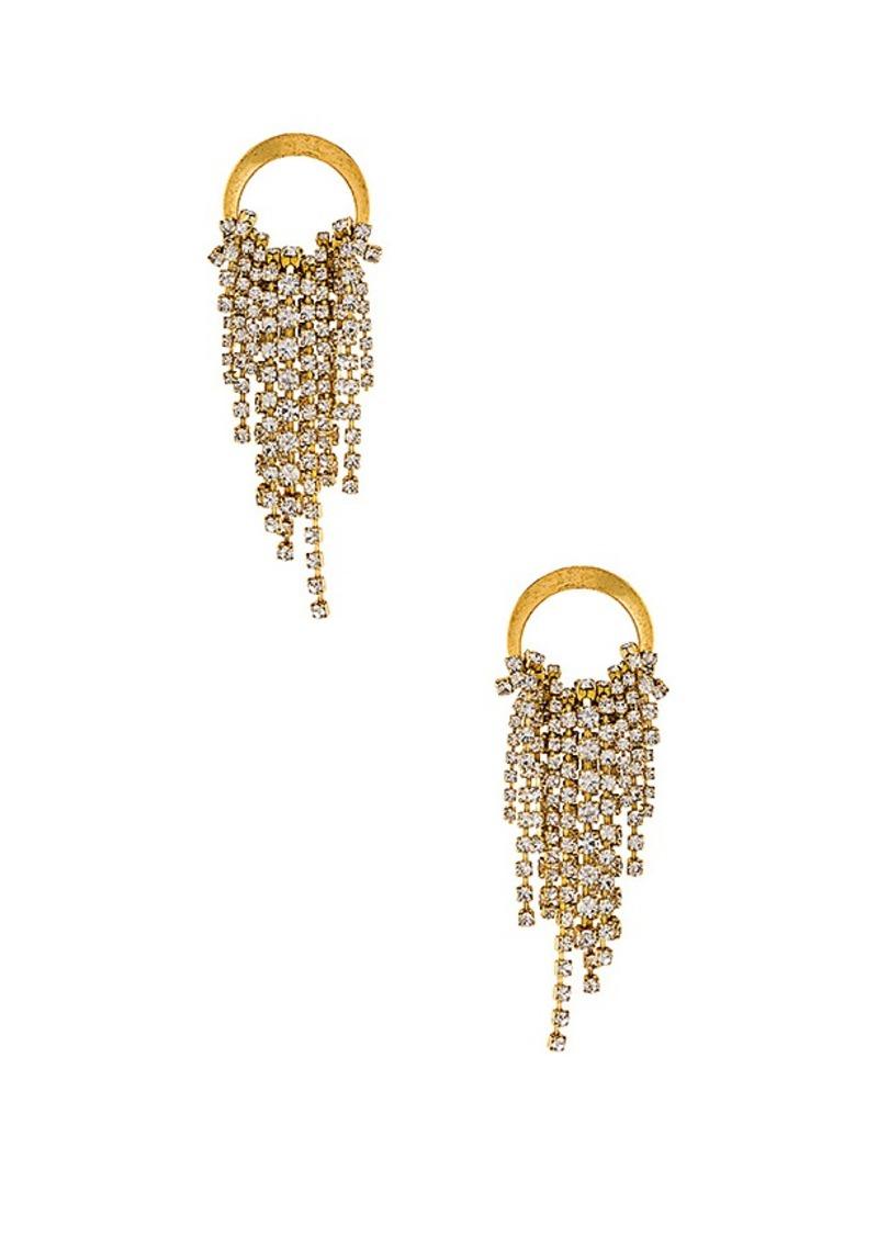Elizabeth Cole Cascading Crystal Earrings