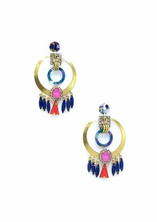 Elizabeth Cole Colla Hoop Drop Earrings