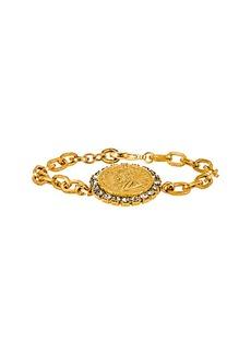 Elizabeth Cole Crystal Coin Bracelet