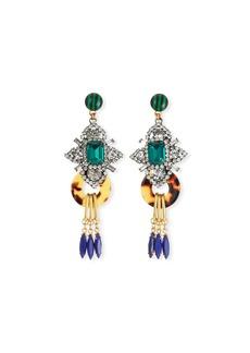 Elizabeth Cole Edwina Geometric Drop Earrings