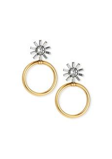 Elizabeth Cole Fayth Crystal Hoop Drop Earrings