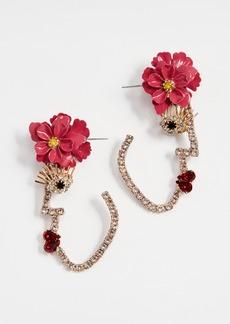 Elizabeth Cole Flower Face Earrings