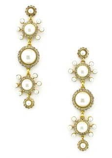 Elizabeth Cole Gretchen Imitation Pearl Linear Earrings