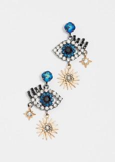 Elizabeth Cole Hamsa Earrings
