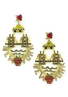 Elizabeth Cole I Love New York Crystal Drop Earrings