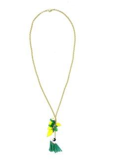 Elizabeth Cole Lemon Pendant Necklace