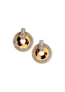 Elizabeth Cole Linnea Crystal & Acetate Hoop Drop Earrings