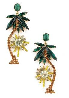 Elizabeth Cole Pamela Crystal Palm Earrings