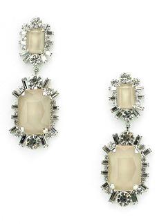 Elizabeth Cole Piper Crystal Drop Earrings