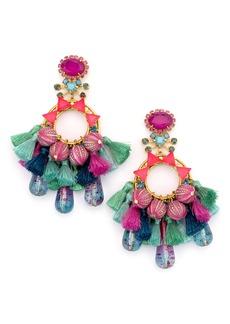 Elizabeth Cole Sakura Tassel Beaded Drop Earrings
