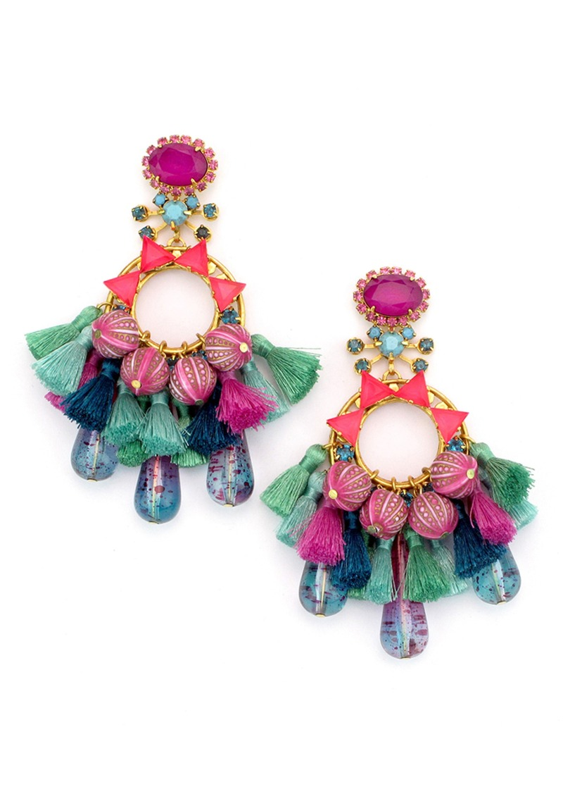 Elizabeth Cole Sakura Tel Beaded Drop Earrings