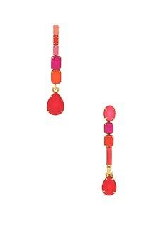 Elizabeth Cole Tiered Dangle Earrings