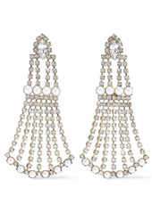 Elizabeth Cole Woman 24-karat Gold-plated Crystal And Faux Pearl Earrings White