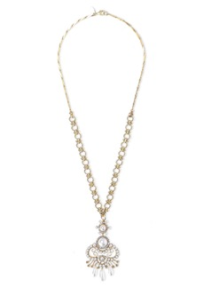 Elizabeth Cole Woman 24-karat Gold-plated Crystal And Faux Pearl Necklace White