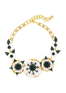 Elizabeth Cole Woman 24-karat Gold-plated Crystal And Resin Necklace Gold
