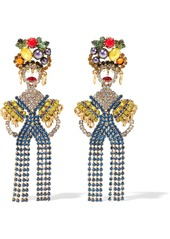 Elizabeth Cole Woman 24-karat Gold-plated Crystal Earrings Multicolor
