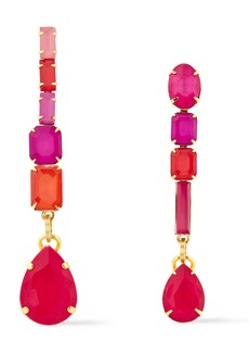 Elizabeth Cole Woman 24-karat Gold-plated Crystal Earrings Multicolor