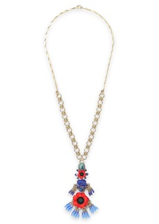 Elizabeth Cole Woman 24-karat Gold-plated Resin And Crystal Necklace Blue