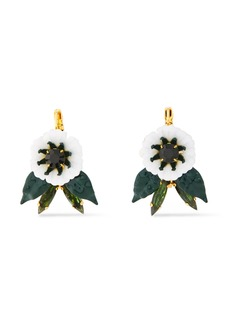 Elizabeth Cole Woman 24-karat Gold-plated Resin And Swarovski Crystal Earrings Gold