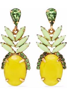 Elizabeth Cole Woman 24-karat Gold-plated Swarovski Crystal And Stone Earrings Multicolor