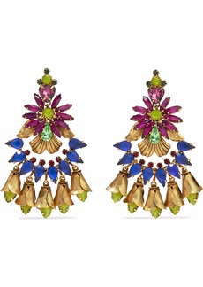 Elizabeth Cole Woman 24-karat Gold-plated Swarovski Crystal And Stone Earrings Multicolor