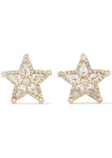 Elizabeth Cole Woman 24-karat Gold-plated Swarovski Crystal Earrings Gold