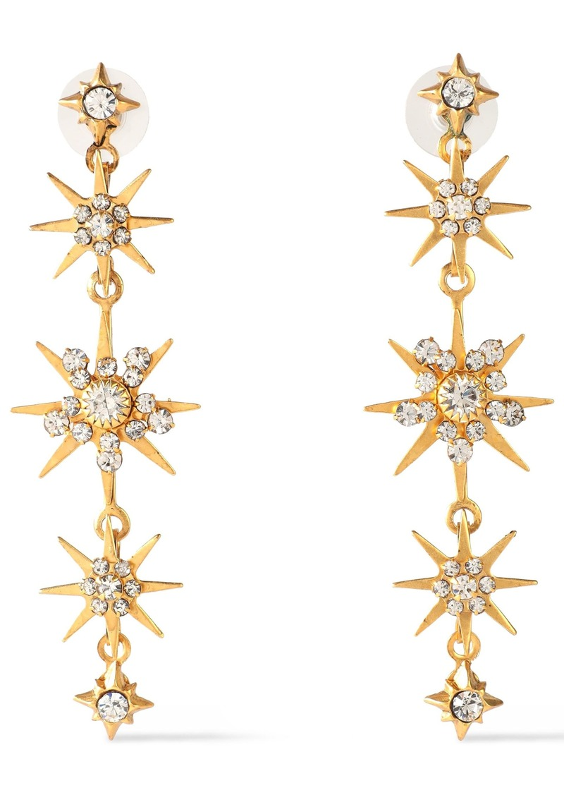 Elizabeth Cole Woman 24-karat Gold-plated Swarovski Crystal Earrings Gold