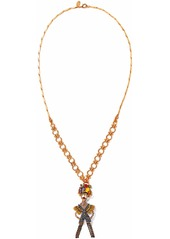 Elizabeth Cole Woman 24-karat Gold-plated Swarovski Crystal Faux Pearl And Stone Necklace Gold