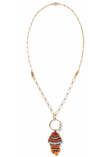 Elizabeth Cole Woman 24-karat Gold-plated Swarovski Crystal Hematite And Stone Necklace Gold