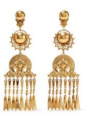 Elizabeth Cole Woman Burnished 24-karat Gold-plated Earrings Gold