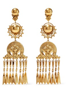 Elizabeth Cole Woman Burnished 24-karat Gold-plated Earrings Gold