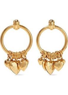 Elizabeth Cole Woman Burnished Gold-tone Hoop Earrings Gold