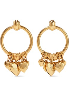 Elizabeth Cole Woman Burnished Gold-tone Hoop Earrings Gold