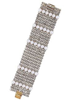 Elizabeth Cole Woman Colette 24-karat Gold-plated Faux Pearl And Crystal Bracelet White