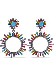 Elizabeth Cole Woman Gunmetal-tone Crystal Earrings Multicolor
