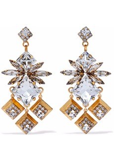 Elizabeth Cole Woman Gold-tone Crystal Earrings Gold