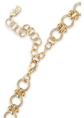 Elizabeth Cole Woman Mezzi 24-karat Gold-plated Resin Stone And Swarovski Crystal Necklace Red
