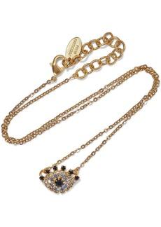 Elizabeth Cole Woman Orbs 24-karat Gold-plated Swarovski Crystal Necklace Gold