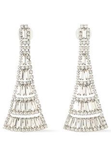 Elizabeth Cole Woman Rhodium-plated Swarovski Crystal Earrings Silver