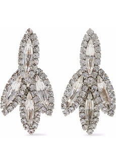 Elizabeth Cole Woman Silver-tone Crystal Earrings Silver