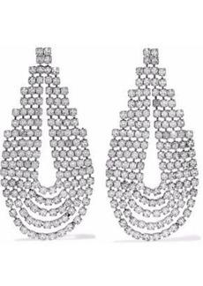 Elizabeth Cole Woman Silver-tone Crystal Earrings Silver