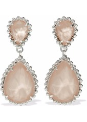 Elizabeth Cole Woman Silver-tone Swarovski Crystal And Stone Earrings Silver